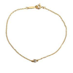 Tiffany TIFFANY & CO Elsa Peretti Diamond Byersard Bracelet K18YG Women's Jewelry Finished