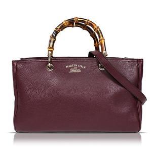 Gucci GUCCI Bamboo Leather Hand 2 WAY 323660 Calfskin Bordeaux Handbag