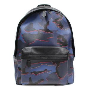 Coach COACH Charles Backpack Camouflage F31557 Blue Multi Men's Outlet
