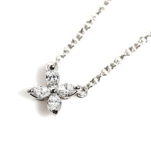 Tiffany & Co Victoria Pendant Mini Platinum Diamond Ladies Necklace Jewelry Finished