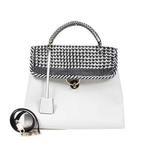 Salvatore Ferragamo Ferragamo Salvatore 2 WAY Handbag White / Black Leather