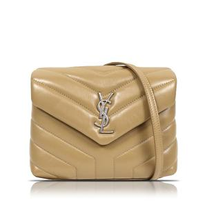 Saint Laurent SAINT LAURENT Matrasse Toileur Calfskin Beige Shoulder Bag