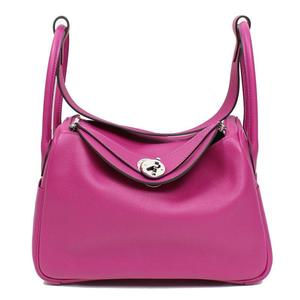 Hermes HERMES Lindy 26 Va Ever color rose purple silver hardware fittings A engraved handbag ladies