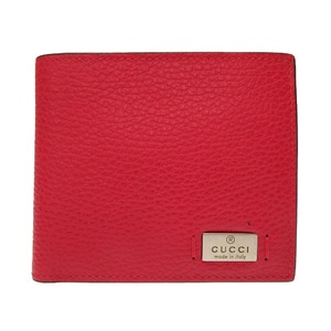 Unused Gucci Leather Red 365461 Bi-fold Wallet 0037 GUCCI Men's