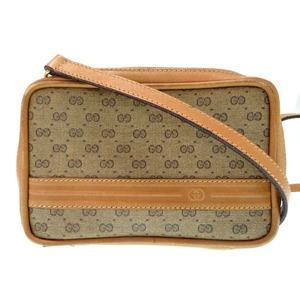 Gucci Vintage Old Mini Shoulder Bag GG Canvas Brown 0136GUCCI