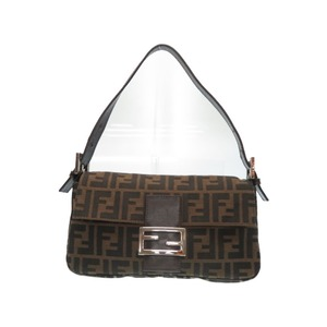 Fendi Mumma Bucket Zucca Pattern Shoulder Bag Brown 0118 FENDI