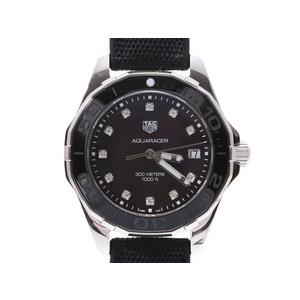 TAG Heuer Aquaracer Shell Dial 11P Diamond WAY131M.FT6092 Men's Women's SS / Rubber Quartz Wrist Watch Unused Box Gala Used Ginza