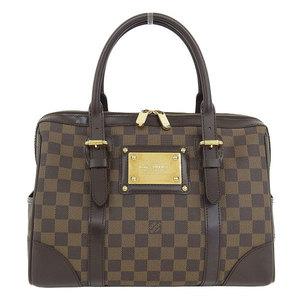 Genuine Louis Vuitton Damier Berkeley Handbag Ebene Model Number: N52000 Bag Leather