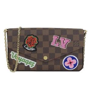 Genuine Louis Vuitton Damier Pochette Felissie GM Shoulder bag long wallet pattern number: N60129 leather