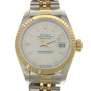 Authentic ROLEX Rolex Datejust Ladies Automatic watch White dial model number: 79173 Y number