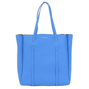 Real BALENCIAGA Balenciaga Epridior Tote Leather Blue 475199 Bag
