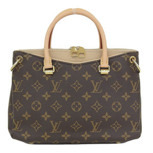 Genuine Louis Vuitton Monogram Palace BB 2way Handbag Shoulder Beige Dunne Bag Leather