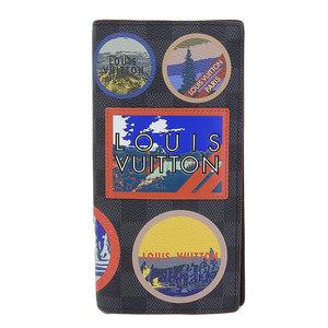 Genuine Louis Vuitton Damier Graphite Alpine Brozer fold wallet Model: N60091 purse leather