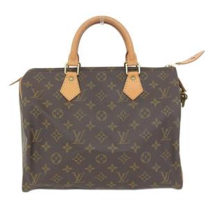 Genuine LOUIS VUITTON Louis Vuitton Monogram Speedy 30 Boston Bag Leather