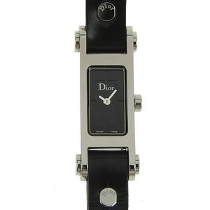 Authentic Christian Dior Ladies Quartz Watch Black Letter Model Number: D104-100