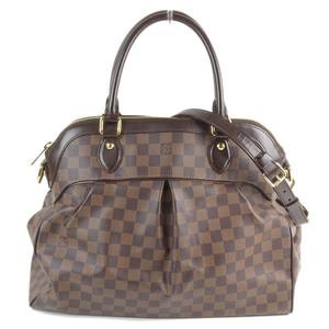 Genuine LOUIS VUITTON Louis Vuitton Damier Trevi GM 2 WAY Bag Model: N51998 Leather