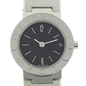 Genuine BVLGARI Bulgari Ladies Quartz wristwatch Black character pattern number: BB23SS