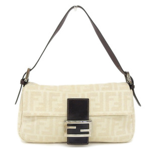 Real FENDI Fendi Mumma Bucket One Shoulder Bag White Burnt Tee Model Number: 26424 Leather