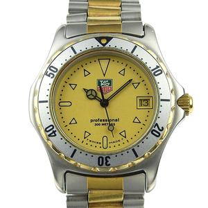 Genuine TAG HEUER Heuer Professional 200 Boys Quartz Wrist Watch Gold Dial 974.013R-2