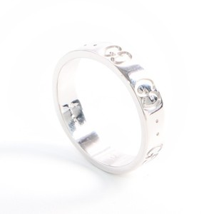 Gucci Icon White Gold Casual Band Ring White Gold