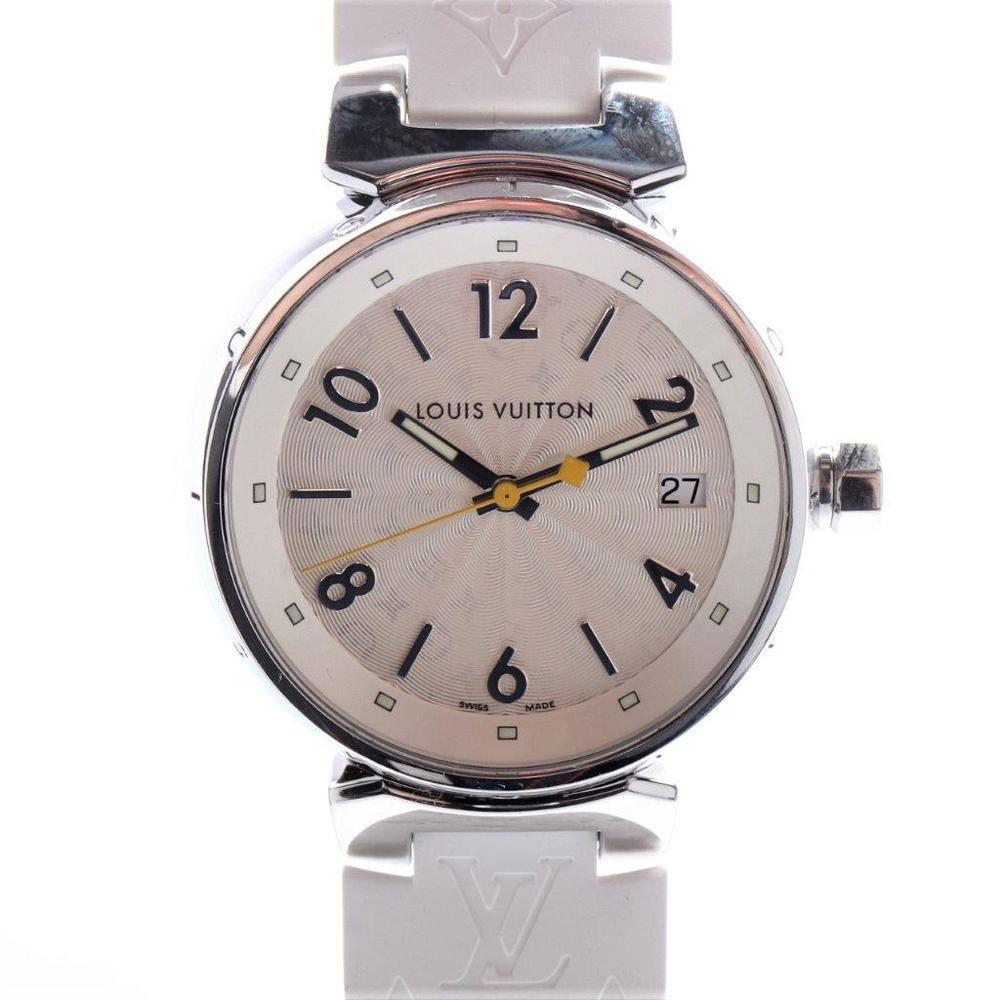 Louis Vuitton Tambour Quartz Stainless Steel Women's Casual Watch Q1313