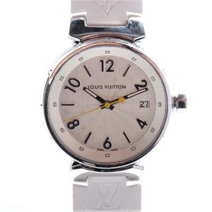 Louis Vuitton Tambour Quartz Stainless Steel Women's Casual Watch Q1313