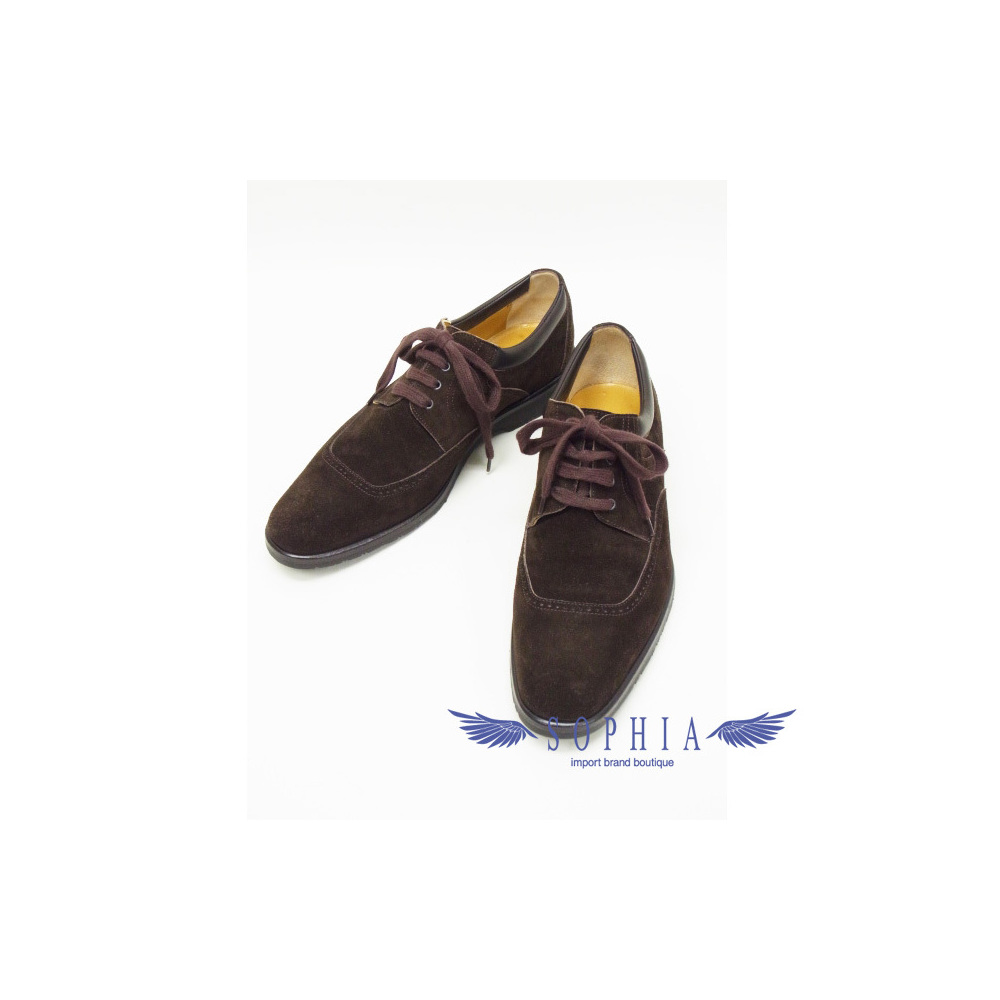 Hermes Suede Business Shoes Brown 20140617-