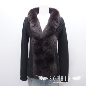 Louis Vuitton Fox Fur Cardigan Size S Black 20181211