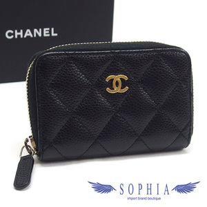 da3bf6571df35d Chanel Caviar Skin Coin Case Purse Matrasse Black 20190111
