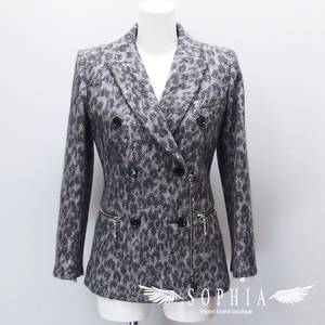 Louis Vuitton Leopard pattern riders style jacket size 3420181211