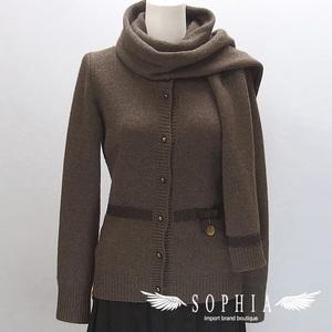 Louis Vuitton knit cardigan with brown muffler 20190111