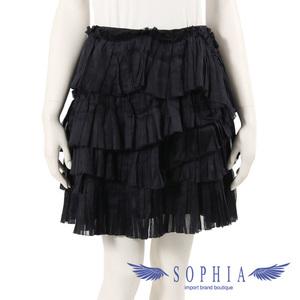 Louis Vuitton frills skirt bottoms black 20190107
