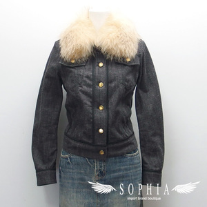 Black denim jacket with Louis Vuitton fur 3420181212
