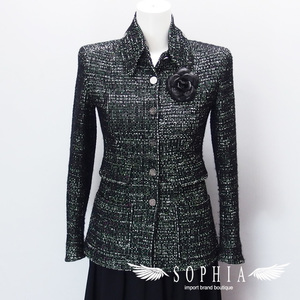Chanel 02 A tweed jacket with corsage 3420181221