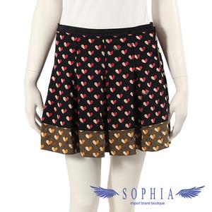 Louis Vuitton skirt bottoms silk heart black khaki 20190107