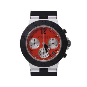 ブルガリ アルミニウム クログラフ 赤文字盤 AC38TA 777本限定 メンズ アルミ/ラバー 自動巻 腕時計 ABランク BVLGARI 箱 ギャラ 中古 銀蔵