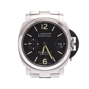 Panerai Luminol 40 mm Black letter board PAM 00298 Mens SS New style breath automatic winding wristwatch A rank 美 品 OFFICINE PANERAI box gala second hand silver storage