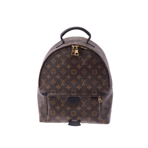 Louis Vuitton Monogram Palm Springs MM Backpack Brown M41561 Men's Women's Genuine Leather LOUIS VUITTON New Ginza