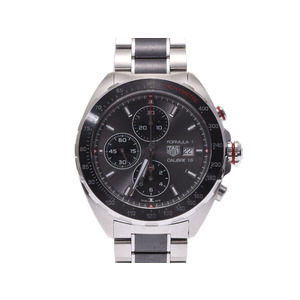 TAG Heuer Formula Chrono CAZ 2012 Gray dial board Men's SS automatic winding wristwatch A rank beautiful goods box second hand silver storage