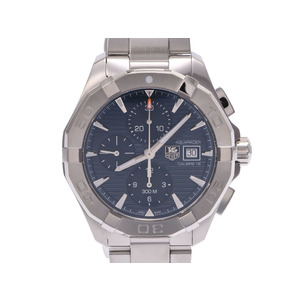 TAG Heuer Aquaracer Chrono Blue Dial CAY 211 2 - Men 's SS Automatic Watch A Rank Merchandise Box Gala Used Ginza