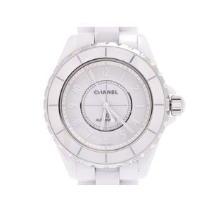 シャネル J12 ホワイトファントム 38mm 白文字盤 H3443 メンズ 白セラミック 自動巻 腕時計 Aランク 美品 CHANEL 箱 ギャラ 中古 銀蔵