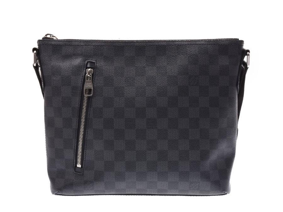 915d928059553 Authentic Louis Vuitton Damier Graphite Mic PM Black N41211 Men  800000073628000