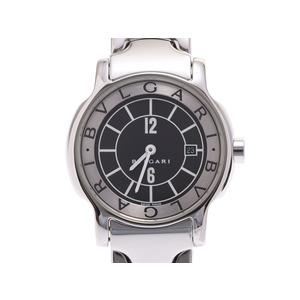 ブルガリ ソロテンポ 黒文字盤 レディース SS クオーツ 腕時計 Aランク 美品 BVLGARI 箱 ギャラ 中古 銀蔵