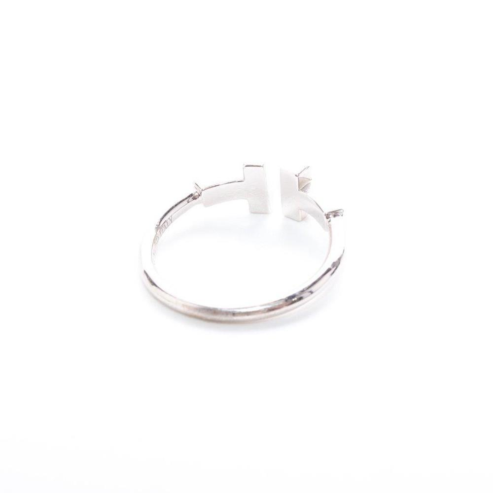 ティファニー(Tiffany) Tワイヤー K18ホワイトゴールド(K18WG) エレガント ダイヤモンド エタニティリング カラット/0.13 ホワイトゴールド(WG)