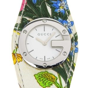 Genuine GUCCI Gucci Ladies Quartz Wrist Watch G Bandue Flora 104