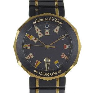 Genuine CORUM Corum Admirals Cup Mens Quartz Wrist Watch Gun Blue 99.810.31 V-52