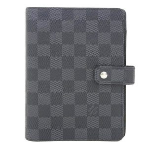 Genuine article LOUIS VUITTON Louis Vuitton Damier Graphite Agenda MM notebook cover pattern number: R20242