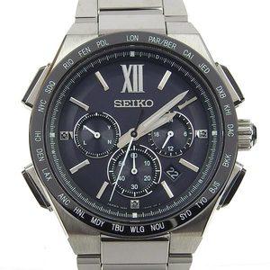 Authentic SEIKO Seiko Brights Men's Solar Radio Watch Titanium Model Number: 8B92-0AF0