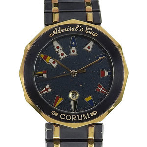 Genuine CORUM Corum Admirals Cup Gun Blue Mens Quartz Wrist Watch Model: 99.810.31 V552