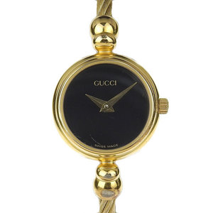 Genuine GUCCI Gucci Ladies Quartz Watch Black Letter Model Number: 2700.2.L